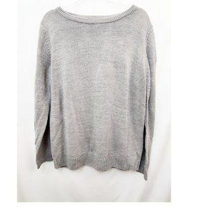 CHEROKEE Vtg 90s Grunge Oversize Gray Sweater EUC